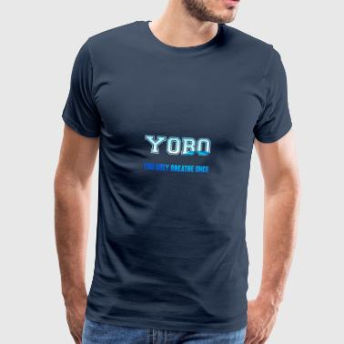 Swimming / Swimmer: YOBO - You Only Breathe Once - Men's Premium T-Shirt