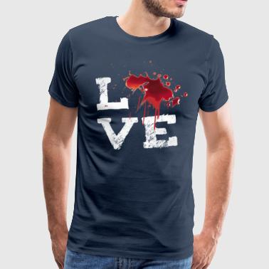 love blut Halloween Horror splatter Movie Fleck ir - Männer Premium T-Shirt