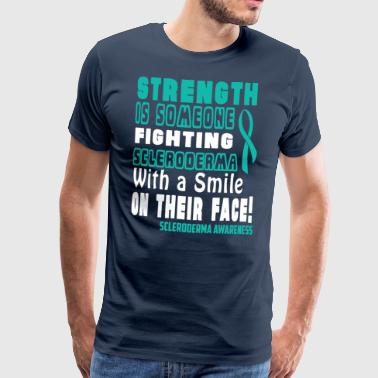 Scleroderma Awareness! Fighting with a Smile! - Men's Premium T-Shirt