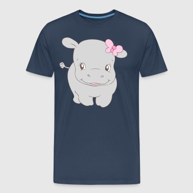 Girl Hippo Hippy - Men's Premium T-Shirt