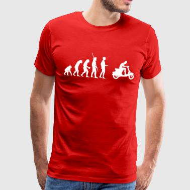 Evolution  Vespa - Herre premium T-shirt