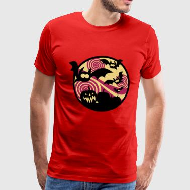 Bats and pumpkins - Men's Premium T-Shirt