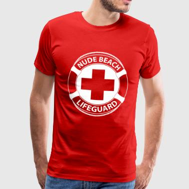Nude Beach Lifeguard - Mannen Premium T-shirt