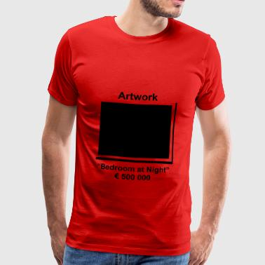 Artwork Bedroom at Night - Men's Premium T-Shirt