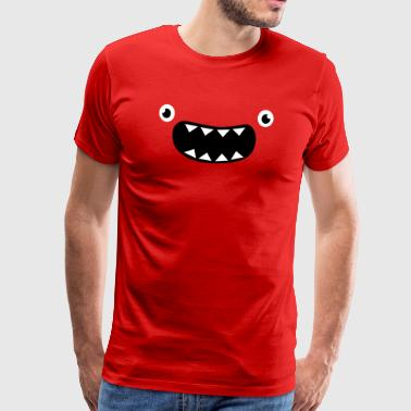 Funny Monster Face - Mannen Premium T-shirt