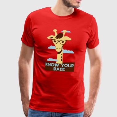 Giraffe, Know your base Mobil- & surfplattefodral - Premium-T-shirt herr