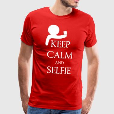 Keep calm and Selfie - Camiseta premium hombre