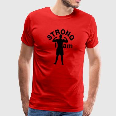 I am Strong man - Men's Premium T-Shirt