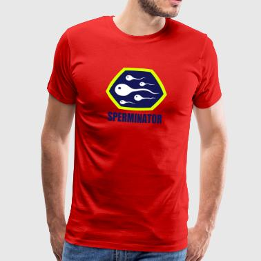 Superheld Hero Sperminator Sex Nymphomane - Männer Premium T-Shirt