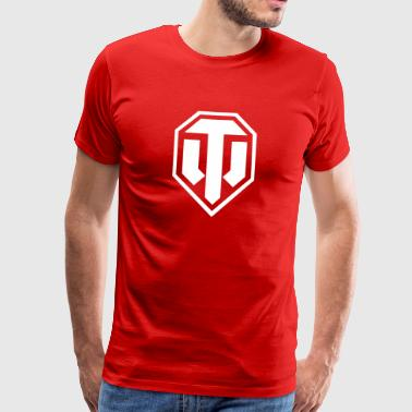 World of Tanks Logo - Premium T-skjorte for menn