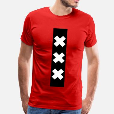 Xxx Red Amsterdam XXX flag souvenir - Men's Premium T-Shirt