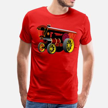 Steam Traction Engine - Men's Premium T-Shirt