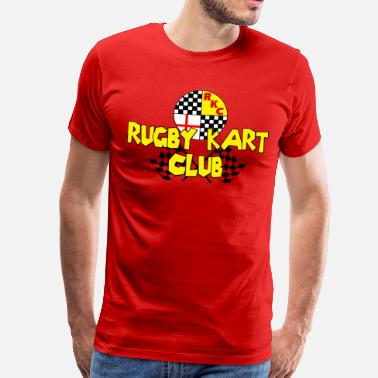Rugby Kart Club with flags - Men's Premium T-Shirt