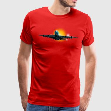 largest airliner - Herre premium T-shirt