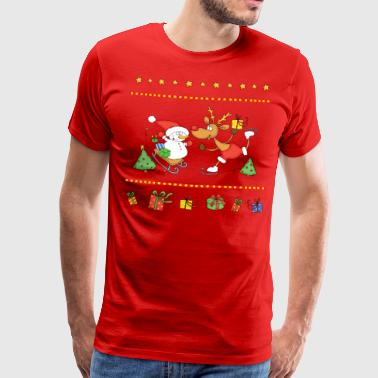 Cheerfull Christmas winter sports. - Men's Premium T-Shirt