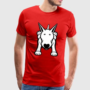English Standard Bull Terrier Bull Terrier Sprawl Design Tee - Men's Premium T-Shirt