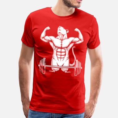 Gym Rats Gym Rat Halftone - Men's Premium T-Shirt