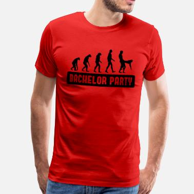 Bachelorparty Evolution Bachelorparty - Mannen Premium T-shirt
