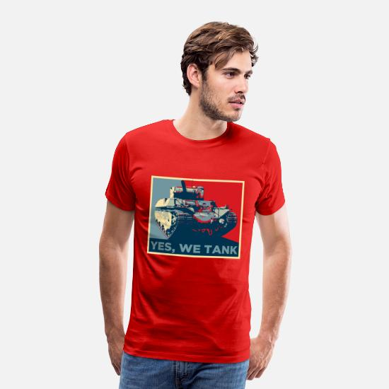 Officialbrands T-Shirts - World of Tanks - Yes, we tank - Men's Premium T-Shirt red