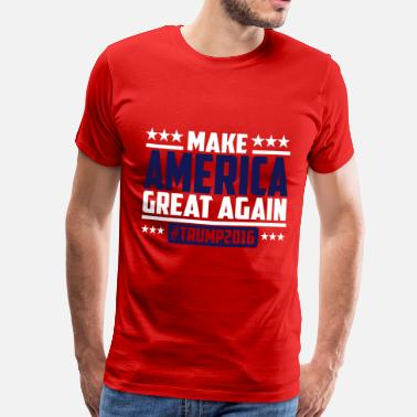 Trump Make america great again trump 2016 - T-shirt Premium Homme