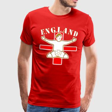england football celebration design - Men's Premium T-Shirt