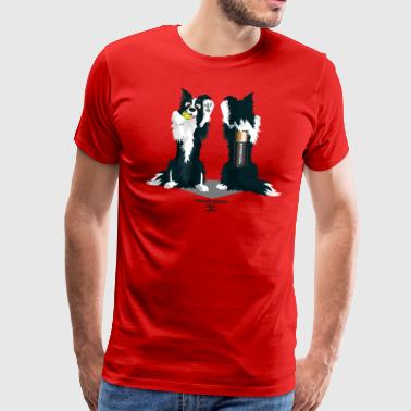Border Collie Cartoon EndlessEnergy 2.0 - OnlyFront - Men's Premium T-Shirt