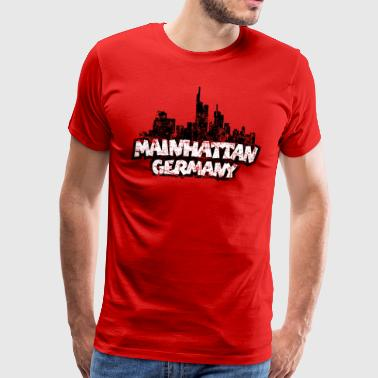 Mainhattan Germany Frankfurt Skyline - Männer Premium T-Shirt