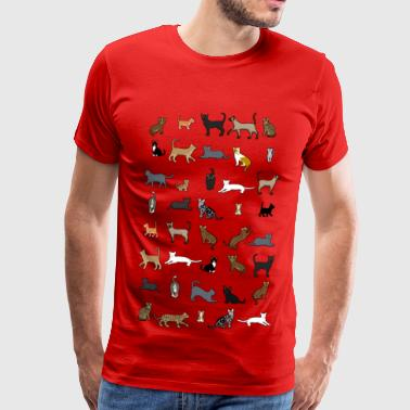 All cats - Mannen Premium T-shirt