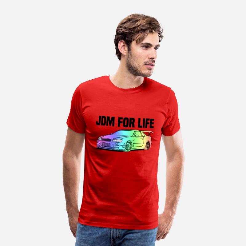 Jdm T-Shirts - JDM for Life Colourful - Men's Premium T-Shirt red
