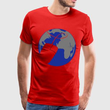 Internet - The place to be. - Männer Premium T-Shirt