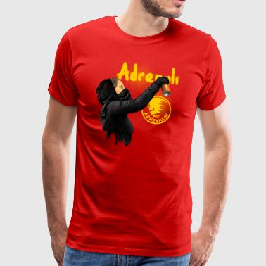 graffiti Mr. Adrenalin - Premium-T-shirt herr