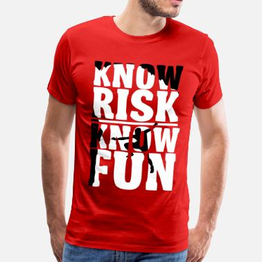 Risk Climbing: Know risk know fun - Men's Premium T-Shirt