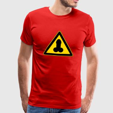 warning penis - Men's Premium T-Shirt