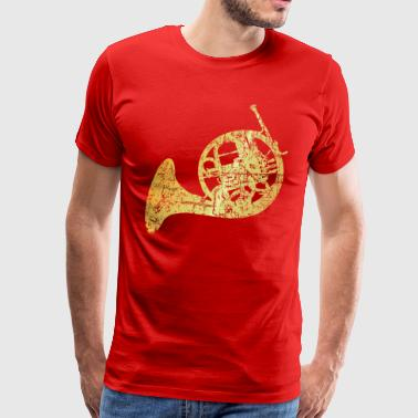 French Horn (Ancient Gold) - Men's Premium T-Shirt