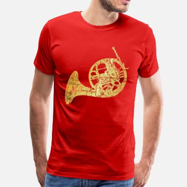 French Horn French Horn (Ancient Gold) - Men's Premium T-Shirt