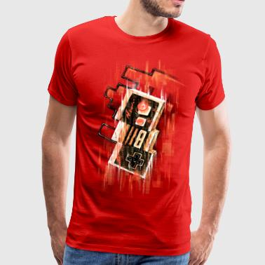 Blurry NES - Premium-T-shirt herr