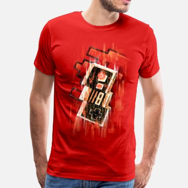 Geek Blurry NES - Men's Premium T-Shirt