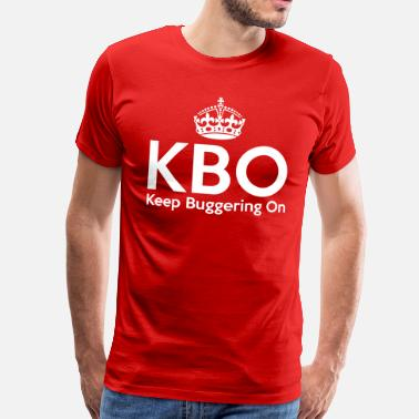Churchill KBO - Keep Buggering on - Men's Premium T-Shirt