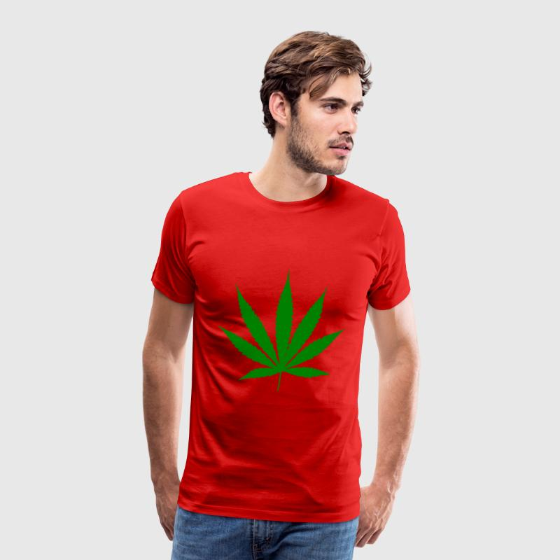 Red Weed T-Shirt. - Premium T-skjorte for menn