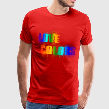 LOVE COLORS - colorful color rainbow - Men's Premium T-Shirt