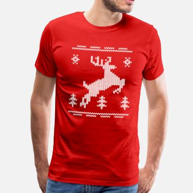 Paternity chrismas patern - Men's Premium T-Shirt