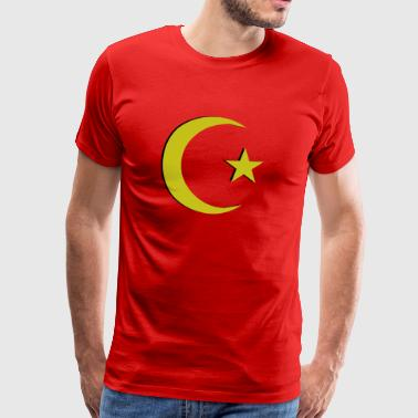 Ottoman Crescent Moon Design Turkey - Men's Premium T-Shirt