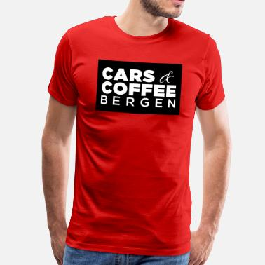 Car Logo Cars and Coffee Bergen Black - Men's Premium T-Shirt