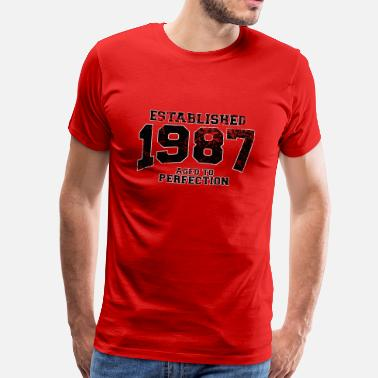 Aged 1987 established 1987 - aged to perfection - Männer Premium T-Shirt