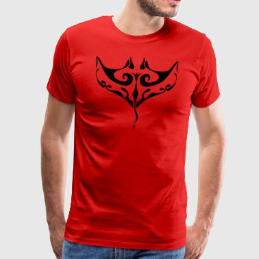 Manta Ray tatovering - Herre premium T-shirt
