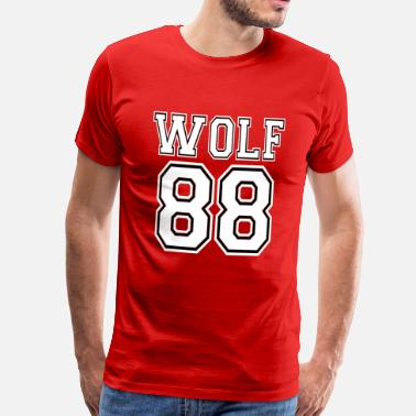 Chanyeol ۞»♥♫Growling Wolf 88-I Love K-Pop EXO♪♥«۞ - Men's Premium T-Shirt