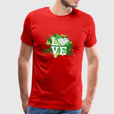 LOVE - volleyball player heart - Camiseta premium hombre