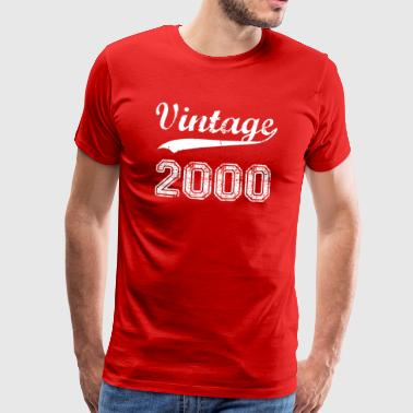 Born-in-2000-birthdays Vintage 2000 birthday years gift t-shirt - Men's Premium T-Shirt
