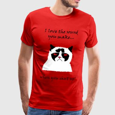 Cat shut up - Men's Premium T-Shirt