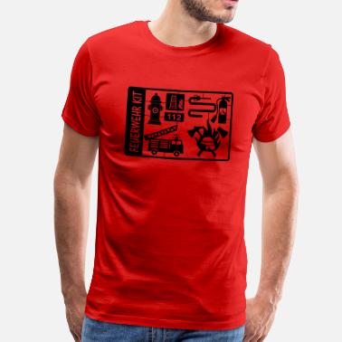 Slangen Hoofd Fire Department Kit - Mannen Premium T-shirt
